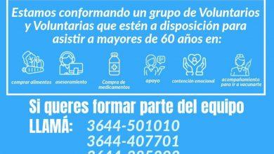 Photo of Fw: EL MUNICIPIO CREÓ EL GRUPO DE VOLUNTARIOS PARA BRINDAR ASISTENCIA A ADULTOS MAYORES